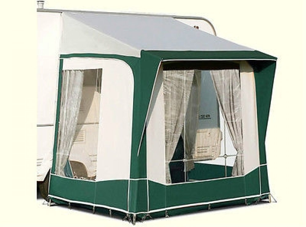 Bradcot Portico Porch Awning Green Teal Alloy Frame Preloved Caravan Awnings